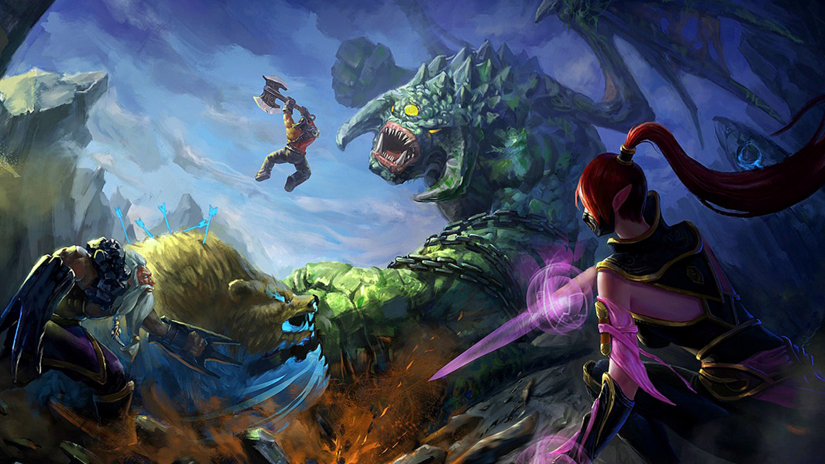 What are the best landscapes of Dota 2 you can download